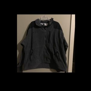 Men's Columbia zip-up black jacket